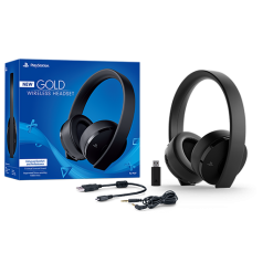 playstation accessories gold wireless headset box two column a