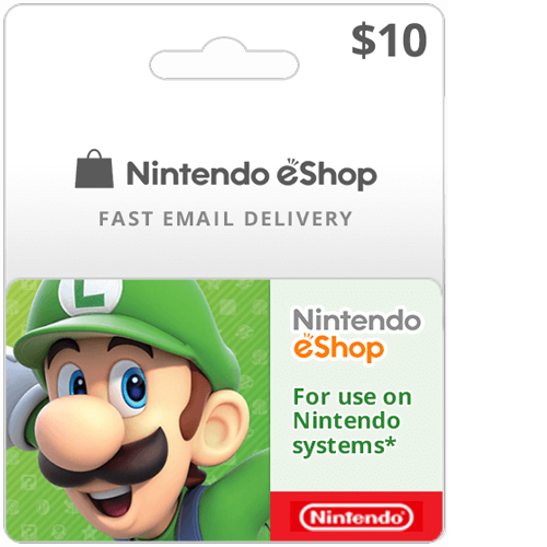 Buy $10 Nintendo Switch eShop Cards