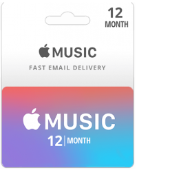 Buy 12 Month Apple Music Subscription Card
