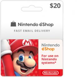 Buy $20 Nintendo Switch eShop Cards