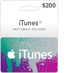 Buy 200$ iTunes gift card