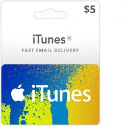 Buy 5$ iTunes gift card