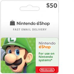 Buy $50 Nintendo Switch eShop Cards