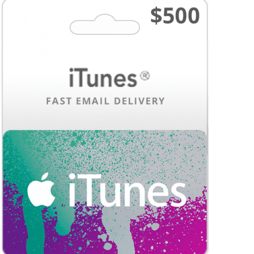 Buy $500 iTunes gift card