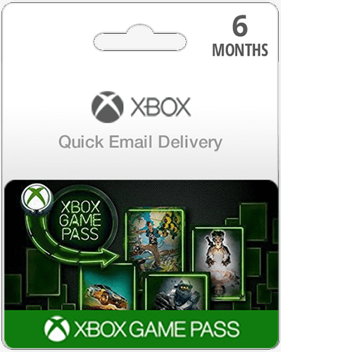Buy 6 Month Xbox Game Pass Membership Card