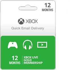 Buy 12 Month U.S. Xbox Live Gold Membership Subscription