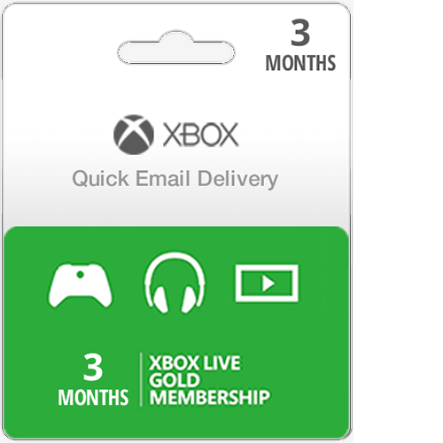 Buy Xbox gold live 3 months membership