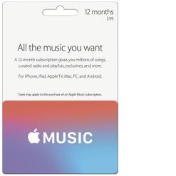 Buy Apple Music USA 12 Month Subscription